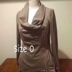 Side Zip Taupe Jacket